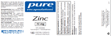 Load image into Gallery viewer, Pure Encapsulations Zinc 15 180 Capsules