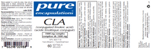 Load image into Gallery viewer, Pure Encapsulations CLA (conjugated linoleic acid) 1000 mg 60 Softgels