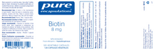 Load image into Gallery viewer, Pure Encapsulations Biotin 8 mg 120 Capsules