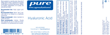 Load image into Gallery viewer, Pure Encapsulations Hyaluronic Acid 180 Capsules