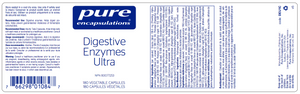 Pure Encapsulations Digestive Enzymes Ultra 180 Capsules