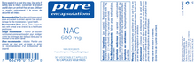 Load image into Gallery viewer, Pure Encapsulations NAC (N-Acetyl-L-Cysteine) 600 MG 90 Capsules