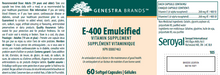 Load image into Gallery viewer, Genestra E-400 Emulsified 60 Softgels