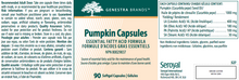 Load image into Gallery viewer, Genestra Pumpkin Capsules 90 Softgels
