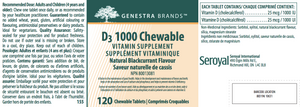 Genestra D3 1000 Chewable 120 Tablets
