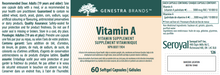 Load image into Gallery viewer, Genestra Vitamin A 60 Softgels