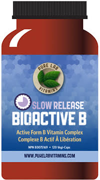 Pure Lab Bioactive B Complex Slow Release 120 Capsules