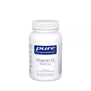Pure Encapsulations Vitamin D3 1000 IU 250 Capsules