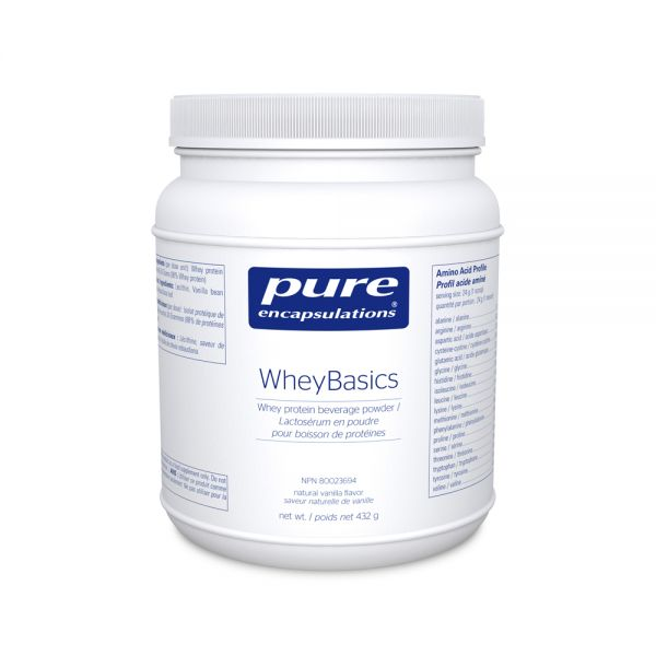 Pure Encapsulations WheyBasics Natural Vanilla Flavour 432g