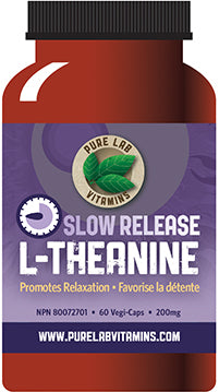 Pure Lab L-Theanine Slow Release 200mg 60 Capsules