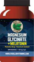 Load image into Gallery viewer, Pure Lab Magnesium Glycinate + Melatonin 90 Capsules