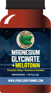 Pure Lab Magnesium Glycinate + Melatonin 90 Capsules
