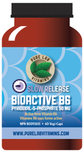 Load image into Gallery viewer, Pure Lab Bioactive B6 50mg Slow Release 60 Capsules