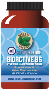 Pure Lab Bioactive B6 50mg Slow Release 60 Capsules
