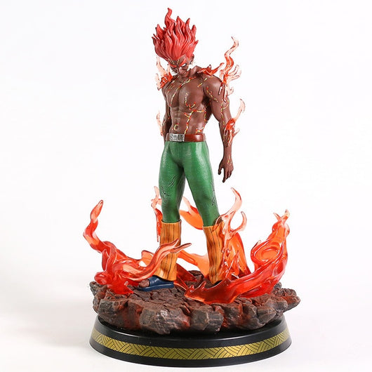 Naruto Shippuden Might Guy Eight Gates Form Statue PVC Figure Model with LED Light-Oddity Odyssey-A box-Oddity Odyssey