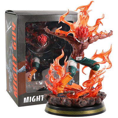 Naruto Shippuden Might Guy Eight Gates Form Statue PVC Figure Model with LED Light-Oddity Odyssey-B box-Oddity Odyssey