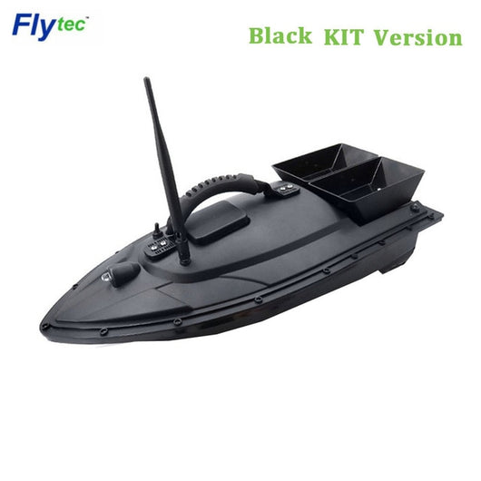 Flytec 2011-5 / V007 / V500 Electric Fishing Bait RC Boat 500M Remote Fish Finder 5.4km/h Double Motor Toys Kit / RTR Version-1967 Children's Toys-2011-5 Black Kit-CHINA-Oddity Odyssey