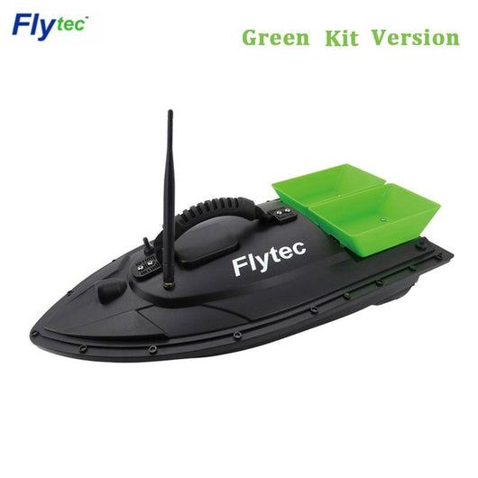 Flytec 2011-5 / V007 / V500 Electric Fishing Bait RC Boat 500M Remote Fish Finder 5.4km/h Double Motor Toys Kit / RTR Version-1967 Children's Toys-2011-5 Green Kit-United States-Oddity Odyssey