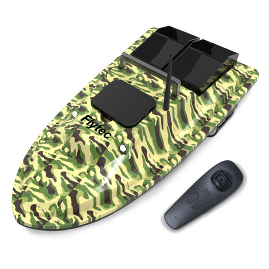 Flytec 2011-5 / V007 / V500 Electric Fishing Bait RC Boat 500M Remote Fish Finder 5.4km/h Double Motor Toys Kit / RTR Version-1967 Children's Toys-V007 Camo-CHINA-Oddity Odyssey
