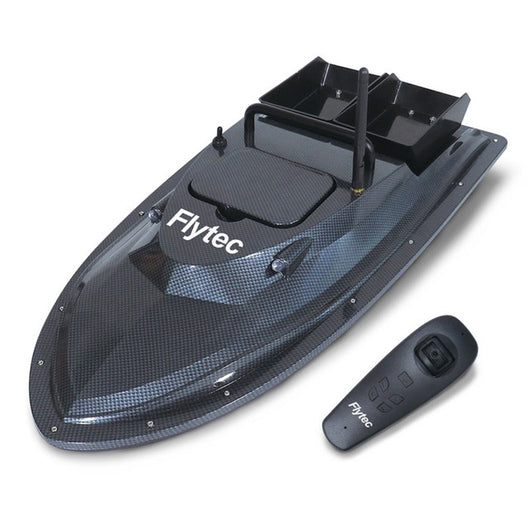 Flytec 2011-5 / V007 / V500 Electric Fishing Bait RC Boat 500M Remote Fish Finder 5.4km/h Double Motor Toys Kit / RTR Version-1967 Children's Toys-V007 Black-CHINA-Oddity Odyssey
