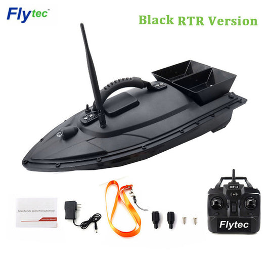 Flytec 2011-5 / V007 / V500 Electric Fishing Bait RC Boat 500M Remote Fish Finder 5.4km/h Double Motor Toys Kit / RTR Version-1967 Children's Toys-2011-5 Black RTR-CHINA-Oddity Odyssey