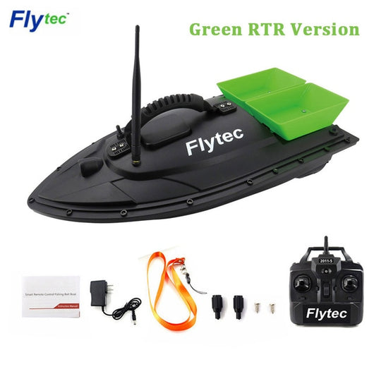 Flytec 2011-5 / V007 / V500 Electric Fishing Bait RC Boat 500M Remote Fish Finder 5.4km/h Double Motor Toys Kit / RTR Version-1967 Children's Toys-2011-5 Green RTR-CHINA-Oddity Odyssey