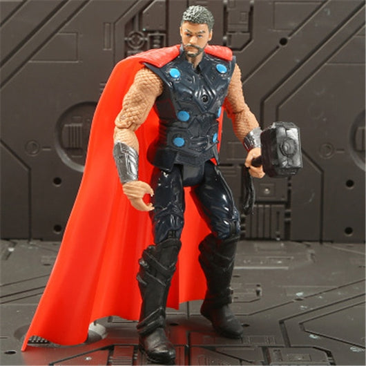 Marvel Avengers 3 infinity war Movie Anime Super Heros Captain America Ironman thanos hulk thor Superhero Action Figure Toy-1967 Children's Toys-thor-Oddity Odyssey
