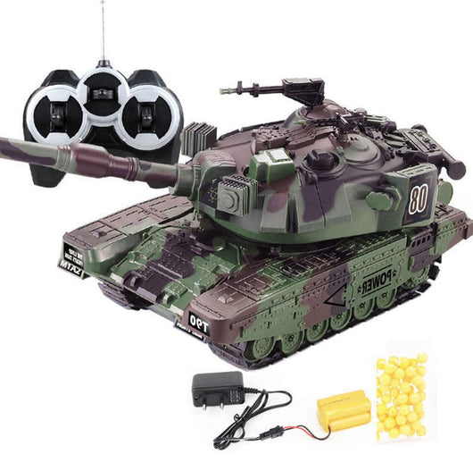 1:32 Military War RC Battle Tank Heavy Large Interactive Remote Control Toy Car with Shoot Bullets Model Electronic Boy Toys-1967 Children's Toys-Green EU plug-Oddity Odyssey