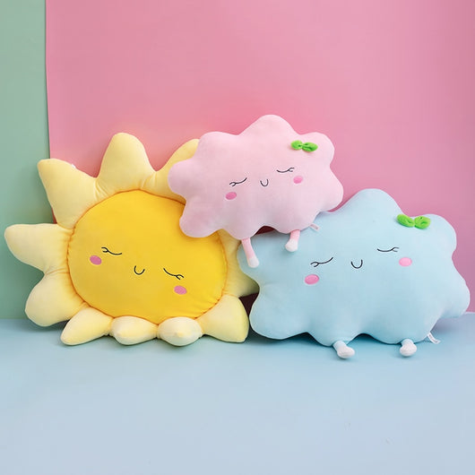 Cute Sun Cloud Plush Pillow Stuffed Soft Creative Plush Sun Cloud Toy Car Pillow Home Decor Kids Toys-Children's Toys-50cm 2-Oddity Odyssey