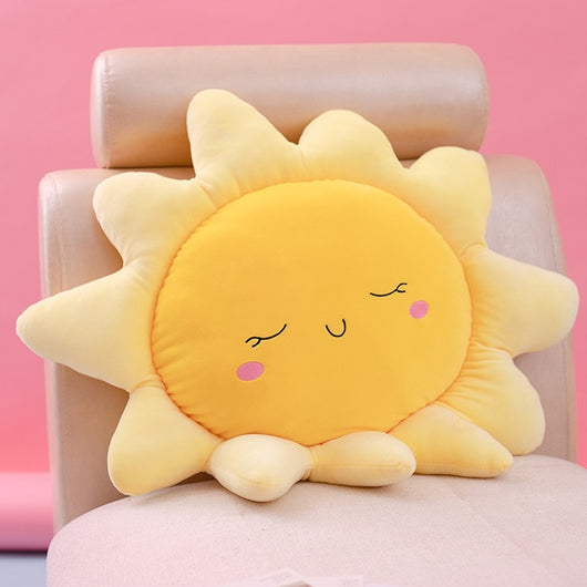 Cute Sun Cloud Plush Pillow Stuffed Soft Creative Plush Sun Cloud Toy Car Pillow Home Decor Kids Toys-Children's Toys-70cm-Oddity Odyssey