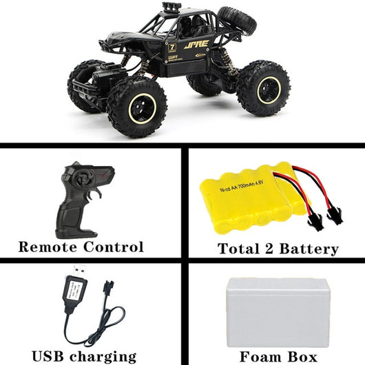 1:12 4WD RC Car Updated Version 2.4G Radio Control RC Car Toys remote control car Trucks Off-Road Trucks boys Toys for Children-Children's Toys-28cm Black 2battery-Russian Federation-Oddity Odyssey