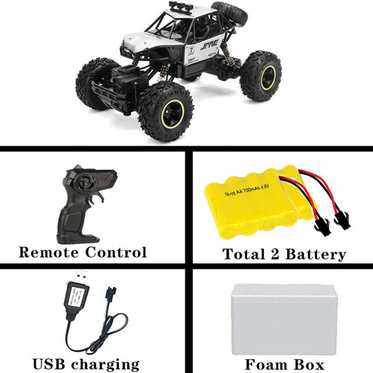 1:12 4WD RC Car Updated Version 2.4G Radio Control RC Car Toys remote control car Trucks Off-Road Trucks boys Toys for Children-Children's Toys-28cm Silver 2battery-Russian Federation-Oddity Odyssey
