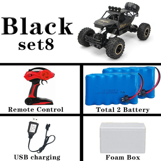 1:12 4WD RC Car Updated Version 2.4G Radio Control RC Car Toys remote control car Trucks Off-Road Trucks boys Toys for Children-Children's Toys-36cm Black 2Battery-Russian Federation-Oddity Odyssey