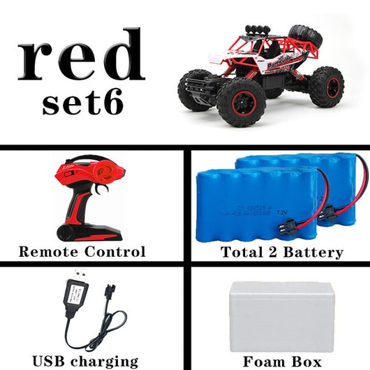 1:12 4WD RC Car Updated Version 2.4G Radio Control RC Car Toys remote control car Trucks Off-Road Trucks boys Toys for Children-Children's Toys-36cm Red 2Battery-Russian Federation-Oddity Odyssey