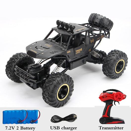 1:12 4WD RC Car Updated Version 2.4G Radio Control RC Car Toys remote control car Trucks Off-Road Trucks boys Toys for Children-Children's Toys-37cm Black 2Battery-CHINA-Oddity Odyssey