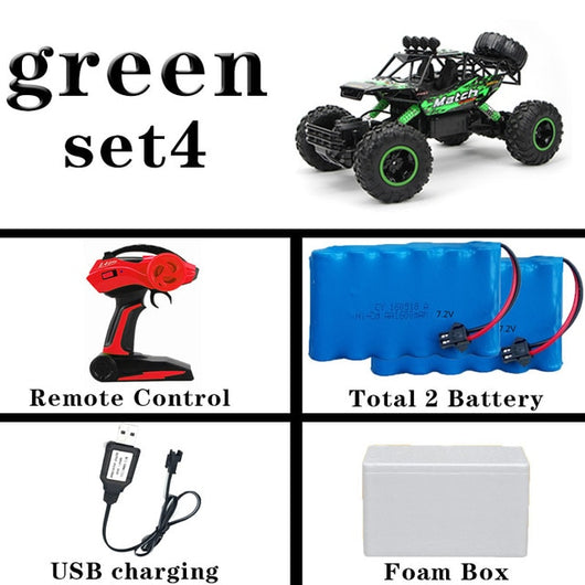 1:12 4WD RC Car Updated Version 2.4G Radio Control RC Car Toys remote control car Trucks Off-Road Trucks boys Toys for Children-Children's Toys-36cm green 2Battery-Russian Federation-Oddity Odyssey
