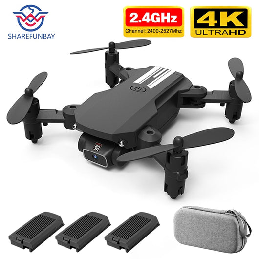SHAREFUNBAY drone 4k HD wide angle camera wifi fpv drone height keeping drone with camera mini drone video live rc quadcopter-Children's Toys-4K 3B-CHINA-Oddity Odyssey