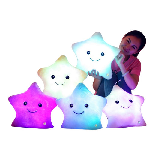 Colorful Luminous Pillow Star Doll Creative Soft Comfortable Cushion Plush Toy Party Decoration Baby Child Pillow-Children's Toys-White-Oddity Odyssey