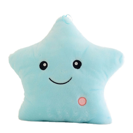 Colorful Luminous Pillow Star Doll Creative Soft Comfortable Cushion Plush Toy Party Decoration Baby Child Pillow-Children's Toys-Blue-Oddity Odyssey