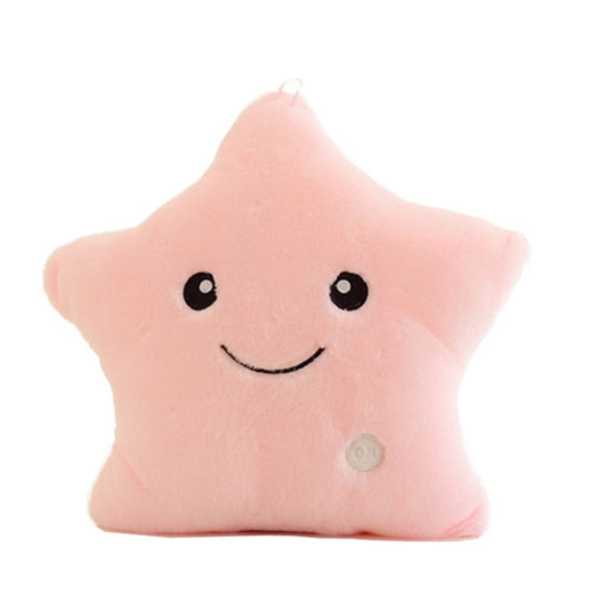 Colorful Luminous Pillow Star Doll Creative Soft Comfortable Cushion Plush Toy Party Decoration Baby Child Pillow-Children's Toys-Pink-Oddity Odyssey