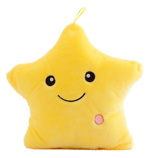 Colorful Luminous Pillow Star Doll Creative Soft Comfortable Cushion Plush Toy Party Decoration Baby Child Pillow-Children's Toys-Yellow-Oddity Odyssey