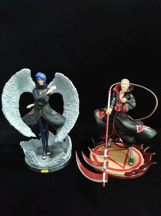 NEW Anime NARUTO Hidan Angel Konan Akatsuki One Of The Members Paper Dance GK Statue PVC Action Figures Collection Model Toys-Children's Toys-no retail box-CHINA-Oddity Odyssey