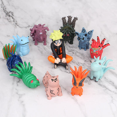 11pcs Anime Naruto Action Figure Naruto Uzumaki And Tail Beasts-Oddity Odyssey-Oddity Odyssey