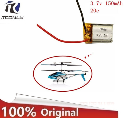 1pcs 3.7V 150mah 20C Lipo Battery For RC Syma S107 S107G S107-19 Skytech M3 Airplane Helicopter Drone battery-1967 Children's Toys-Oddity Odyssey