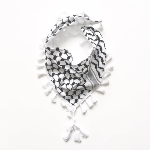 keffiyeh Bib with Fringe