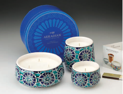 Akkadian Collection Candles- Blue Tessera
