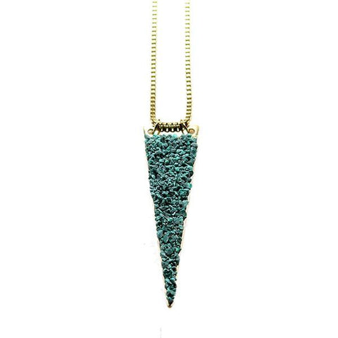 Mashallah Solid Triangle Necklace