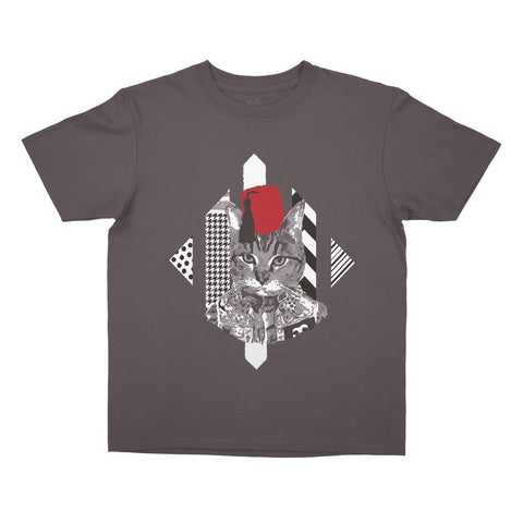Yalla Collective-Cat Tarboosh Kids T-Shirt
