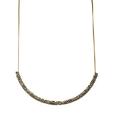 Mashallah Curved Tube Necklace