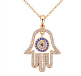 AHB Hamsa Hand Eye Necklace